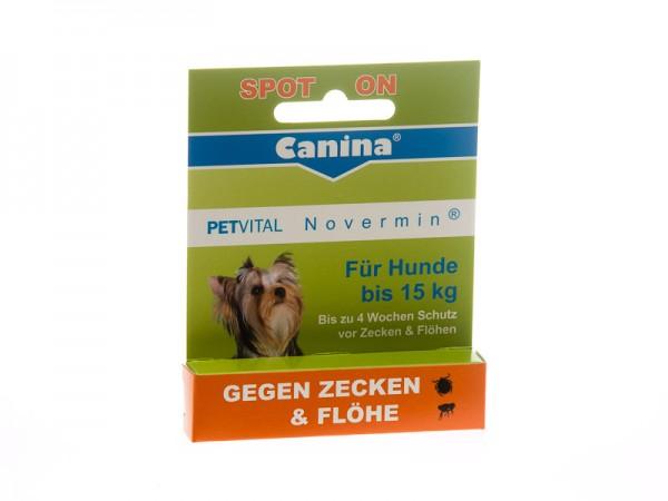 PETVITAL® NOVERMIN kleine große Hunde bis 15kg (2ml)